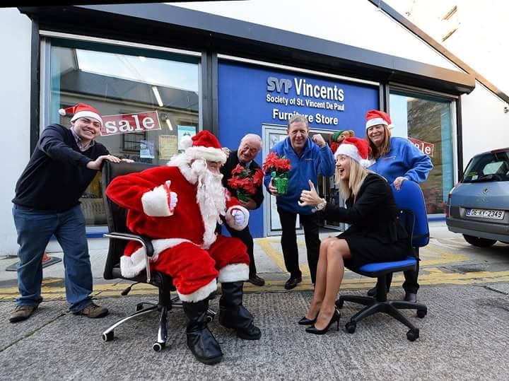 Christmas charity chair race for St Vincent de Paul
